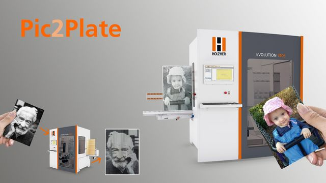 Pic2Plate software for light reflex engraving for the vertical CNC machine Evolution 7405