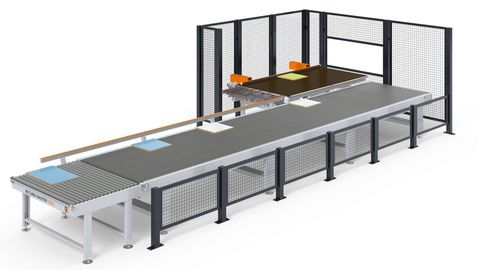 Workpiece return for automated edge processing
