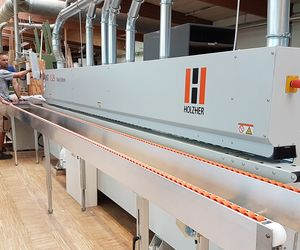 The carpenter Veser from Baden-Württemberg is highly satisfied with the training and the new edge banding machine Sprint