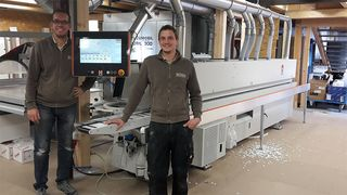Loyal HOLZHER customer with LUMINA 1380 edgebander: Kobe in Reutlingen