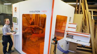 Satisfied HOLZ-HER reference customer Tischlerei Wendt with the standing CNC EVOLUTION 7405